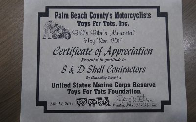 S&D Toys For Tots Sponsorship 2014